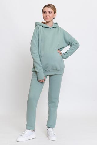 Утепленный спортивный костюм для беременных и кормящих 11998 мятный