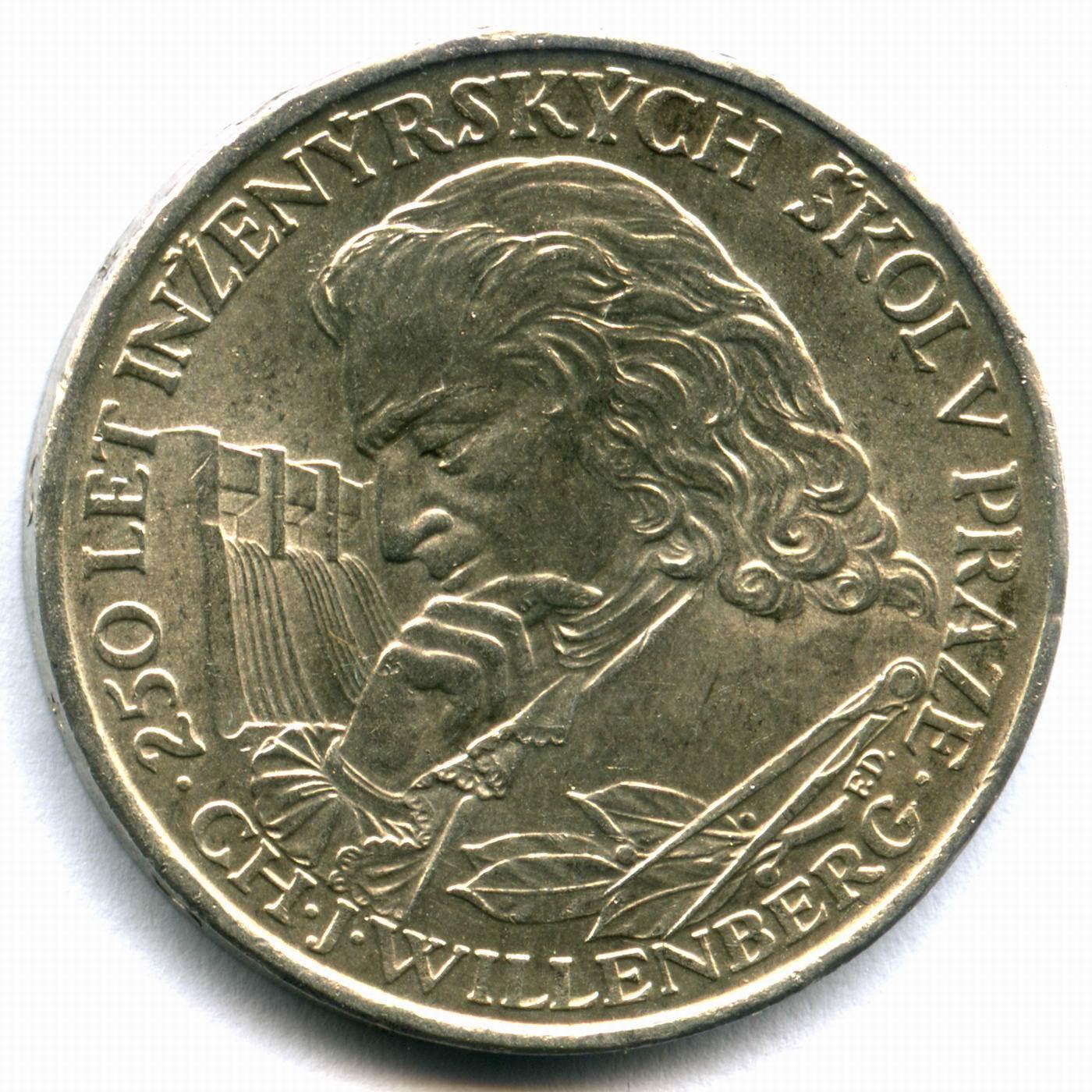 """10 крон 1957. Чехословакия """"250 лет Пражской инженерной школы - техническому университету"""" XF"""