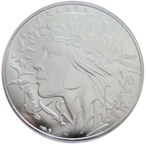 20 евро. Марианна - символ Французской Республики. Франция. 2017 год