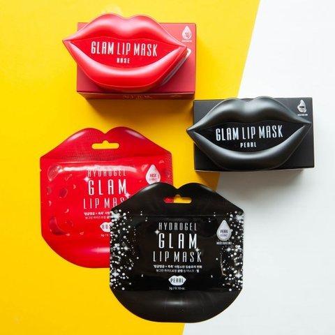 Гидрогелевые патчи для губ Beauugreen Hydrogel Glam Lip Mask Rose