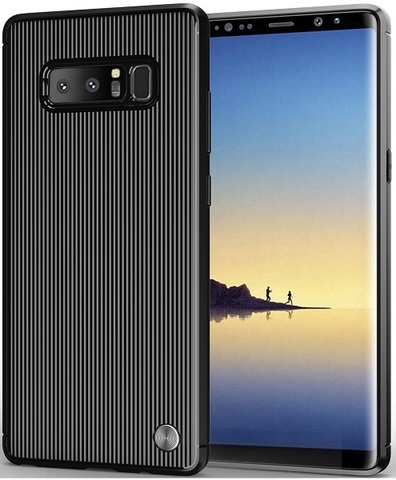 Чехол Samsung Galaxy Note 8  цвет Black (черный), серия Bevel, Caseport