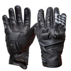 Мотоперчатки кожа Sweep Forza, чёрный