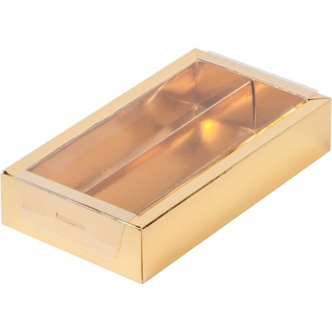 Коробка для конфет (на 8 шт.) золото(18*10*3)