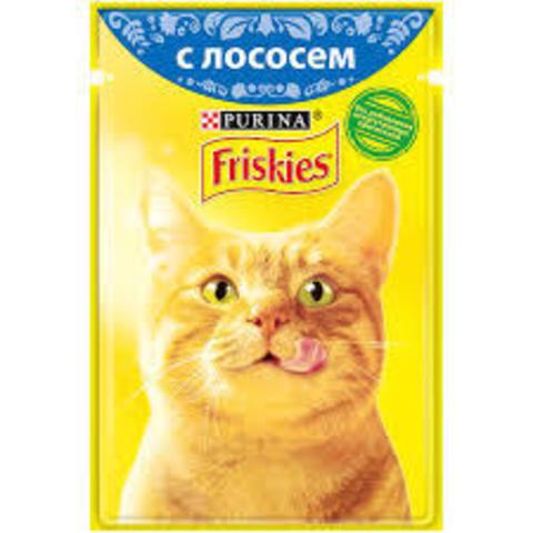 Влажный корм «Friskies» c лососем, 85г