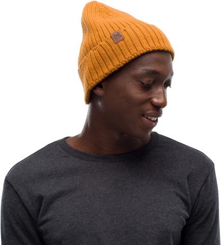 Вязаная шапка Buff Hat Knitted  N-Helle Mustard фото 1