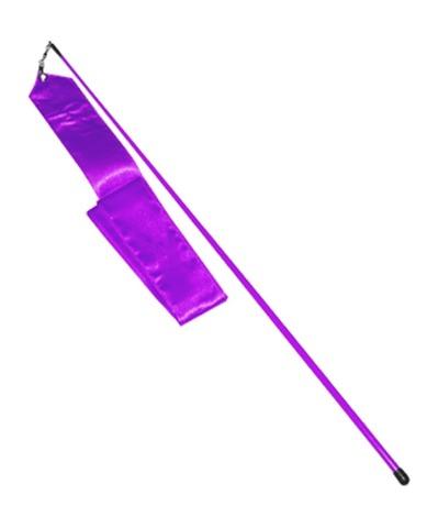Лента гимн. 6м. палочка 56см. Цвет фиолетовый однотонный, палочка цвета ленточки (АВ228)