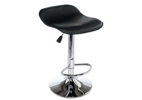 Барный стул Roxy черный 43*43*60 - 83 Черный кожзам /Хромированный металл каркас