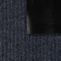Коврик влаговпитывающий, ребристый, серый, 50*80 см