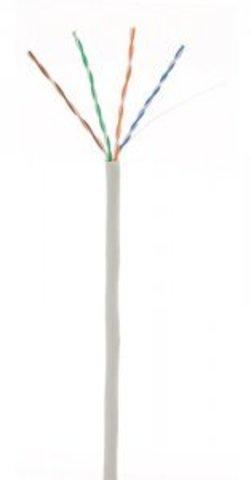 Кабель NETLAN U/UTP 4pair, Cat5e, In, PVC (UEC-UU004-5E-PVC-GY) (305м.)