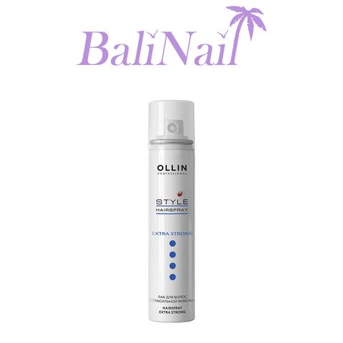 OLLIN STYLE Лак для волос экстрасильной фиксации  75мл