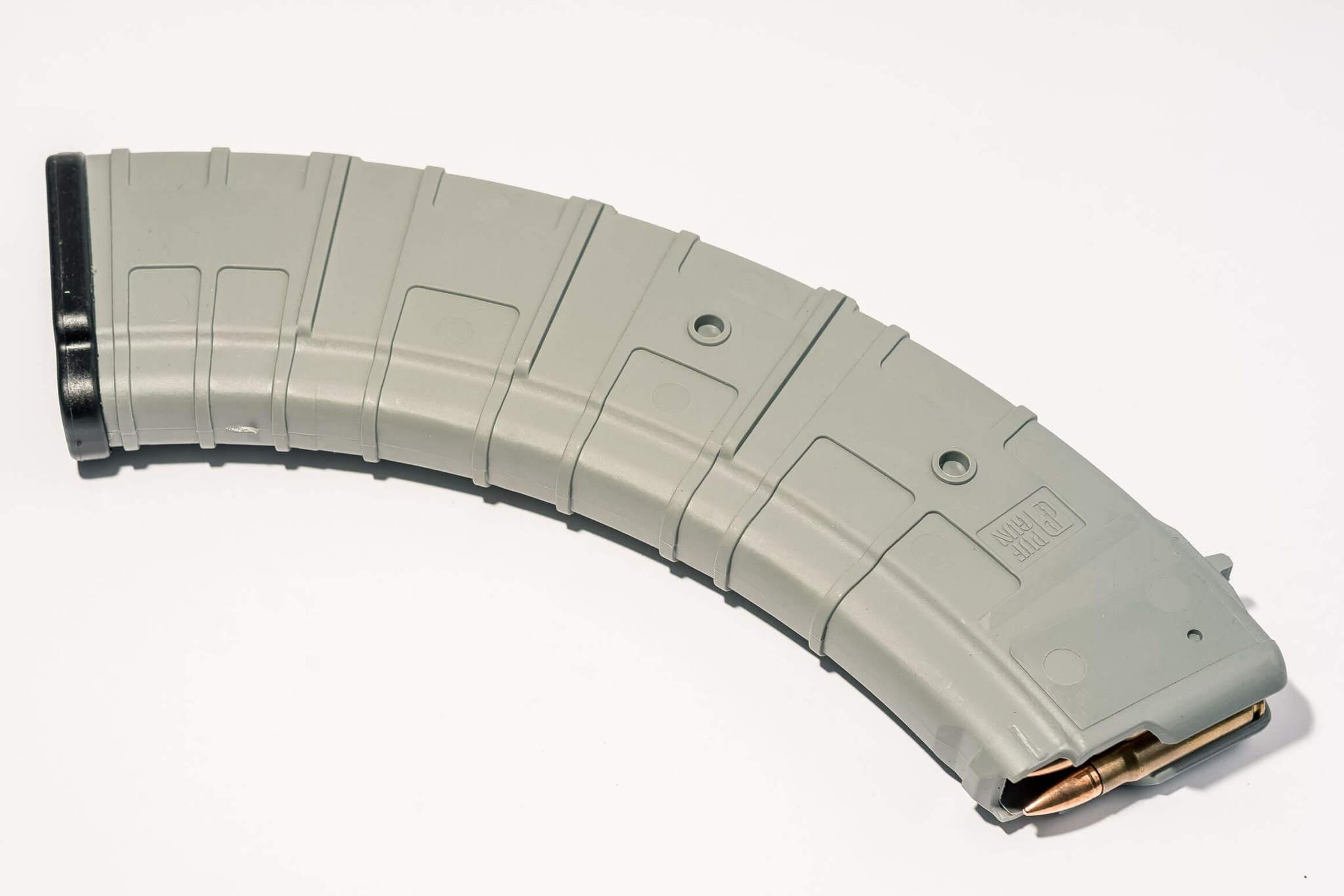 Магазин Pufgun для АКМ 7.62x39 ВПО-136 на 40 патронов, серый