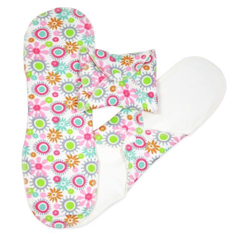 Многоразовые прокладки женские, Ночные, 3шт., Flowers