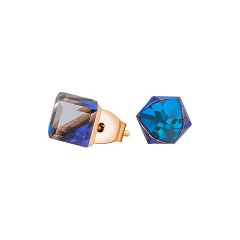 Пусеты Crystal Bermudsa Blue SWE1127 CBB RG