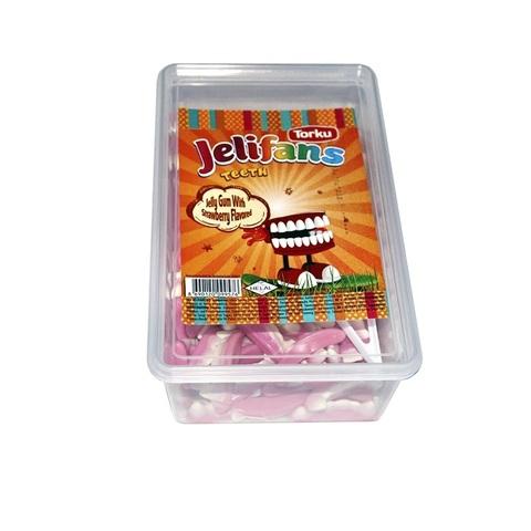 JELIFANS желейные конфеты зубы 1кор*8бл*1шт 900гр