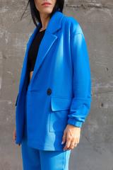 Пиджак трикотажный, королевский синий