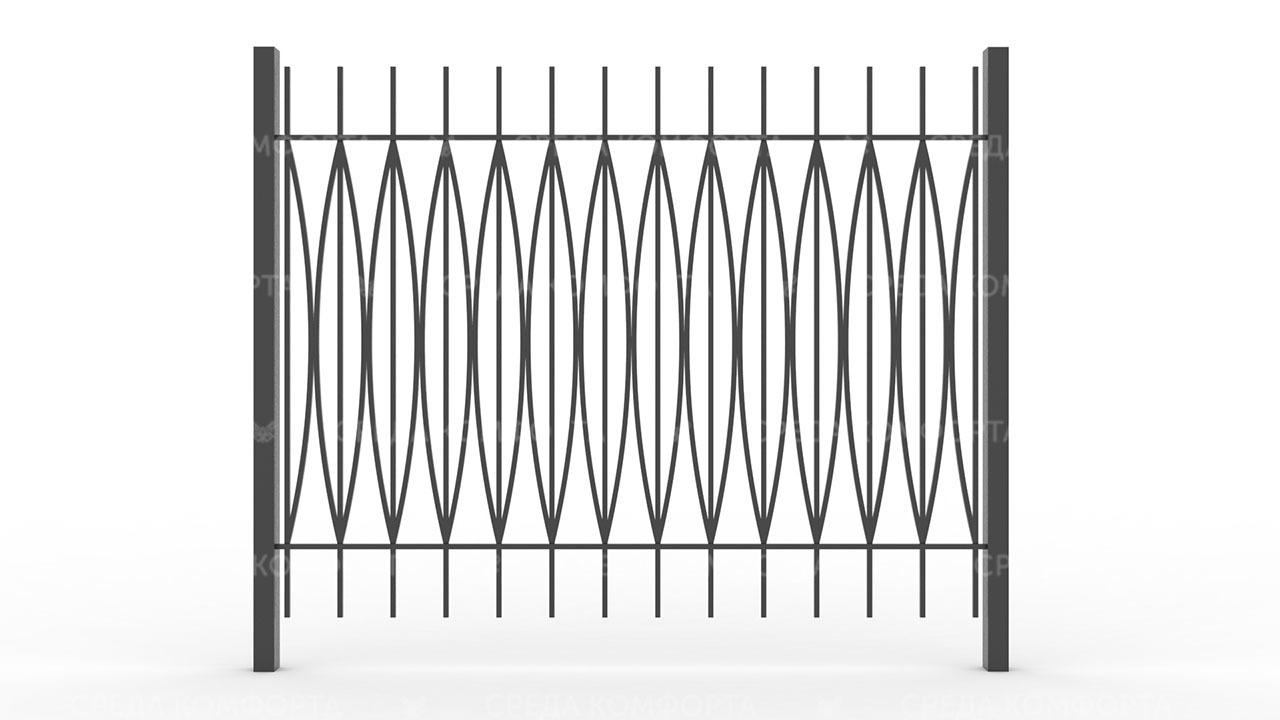 Забор из профильной трубы ZBR0161