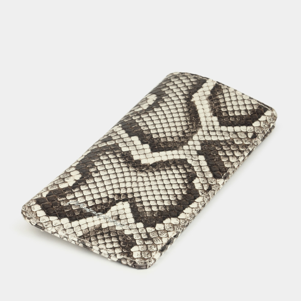 Eyewear pouch - Lunette Easy - natural python