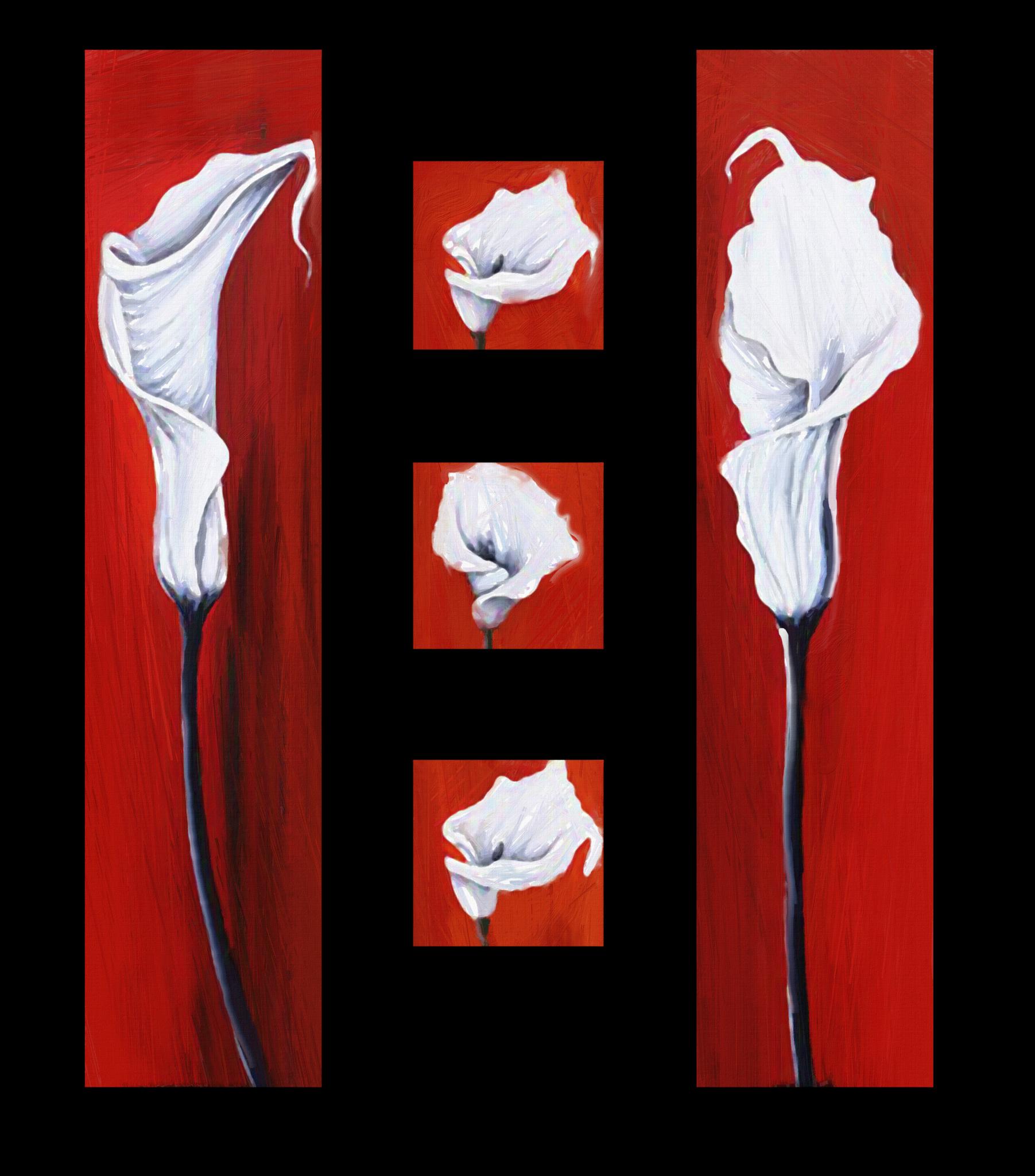 """Модульные картины Модульная картина """"Красное с белым"""" М57.png"""