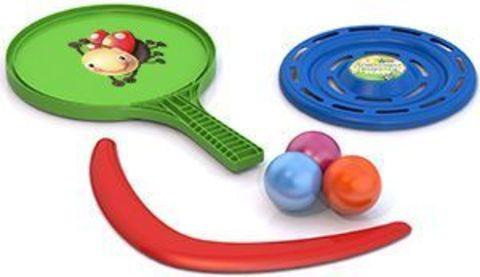 Игровой набор (ракетка,3шарика,бумеранг,летающая тарелка)/431783