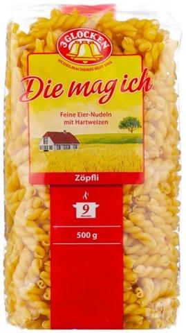 3 Glocken Макароны Die mag ich Zöpfli, 500 г