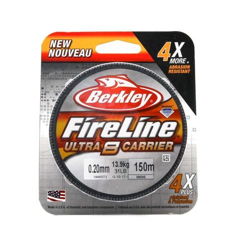 Плетеная леска Berkley Fireline Ultra 8 150M Темно-серая 0,20 Smoke