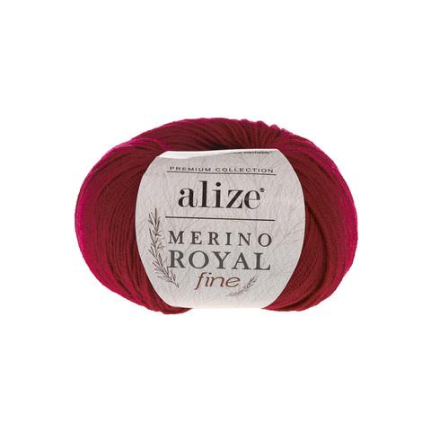 Alize Merino Royal Fine  красный 56