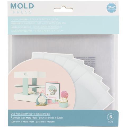 Пластик для молд Mold Press Plastic Sheets -Clear-6 шт