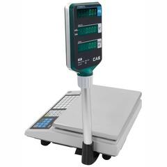 Весы торговые настольные CAS AP-1 (30EX), RS232, 30кг, 5/10гр, 220x340, память на 200 товаров, с поверкой, со стойкой