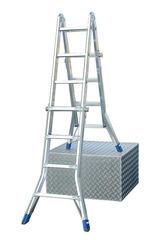 Шарнирная телескопическая лестница STABILO 4х4