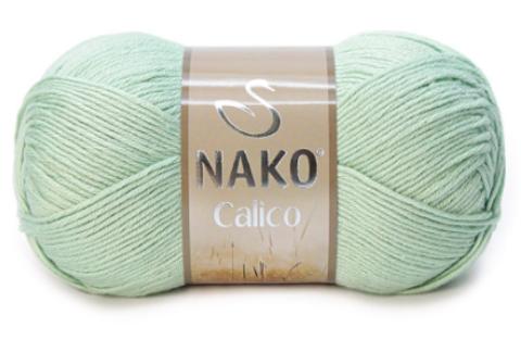 Пряжа Nako Calico мята 10331