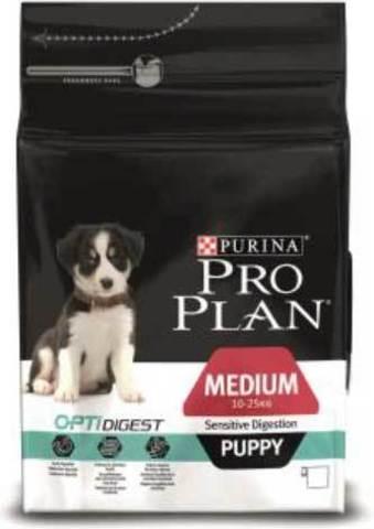 18 кг. PURINA PRO PLAN Сухой корм для щенков средних пород с чувствительным пищеварением с ягненком Medium Puppy Sensitive Digestion