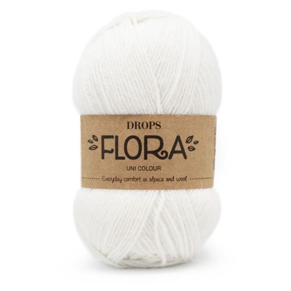 Пряжа Drops Flora 02 белый