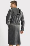 Серый махровый халат Taubert