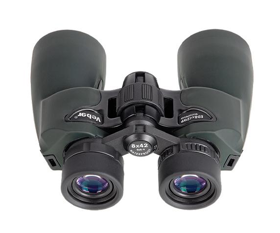 Бинокль Veber ED 8x42 WP green - оптическое стекло Bak-4