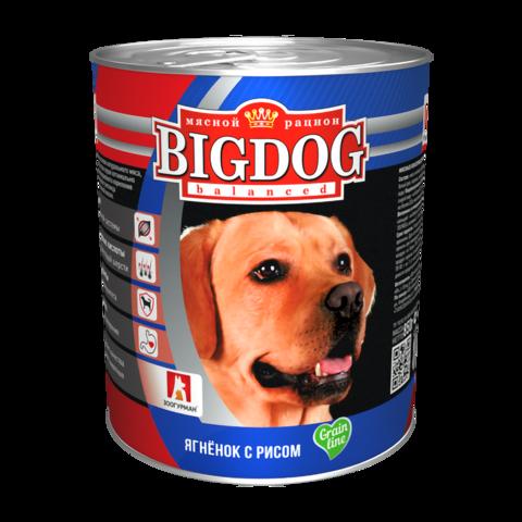 Зоогурман Big dog Консервы для собак с ягненком и рисом (Банка)