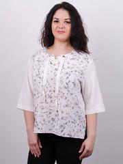 Василина. Нарядная блуза плюс сайз. Белый.