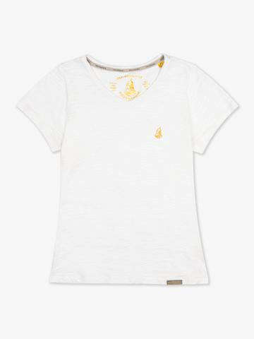 Женская футболка «Великоросс» белого цвета