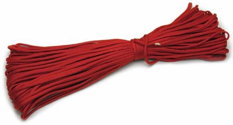 Шнур нейлоновый Паракорд PC011 длина 30 м, диаметр 4.0 мм (Красный)
