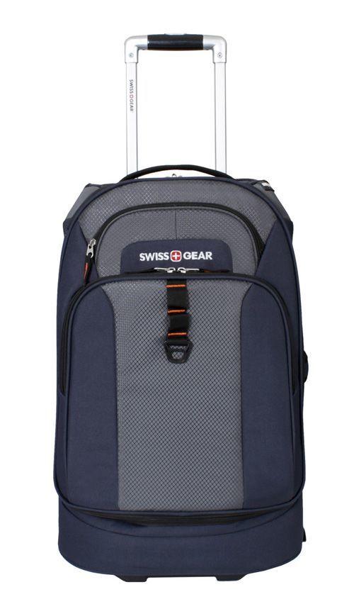 Сумка на колёсах SWISSGEAR Sport Line, 38 л., 53x36x20 см., цвет синий/серый (6166344111)