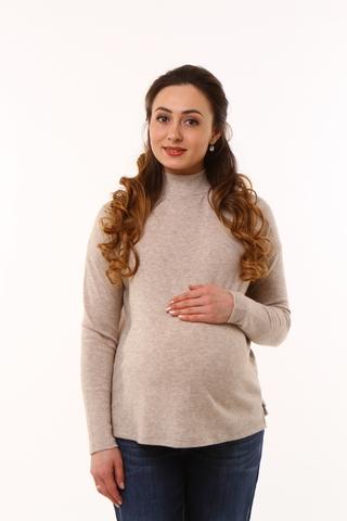 Джемпер для беременных 09925 бежевый меланж