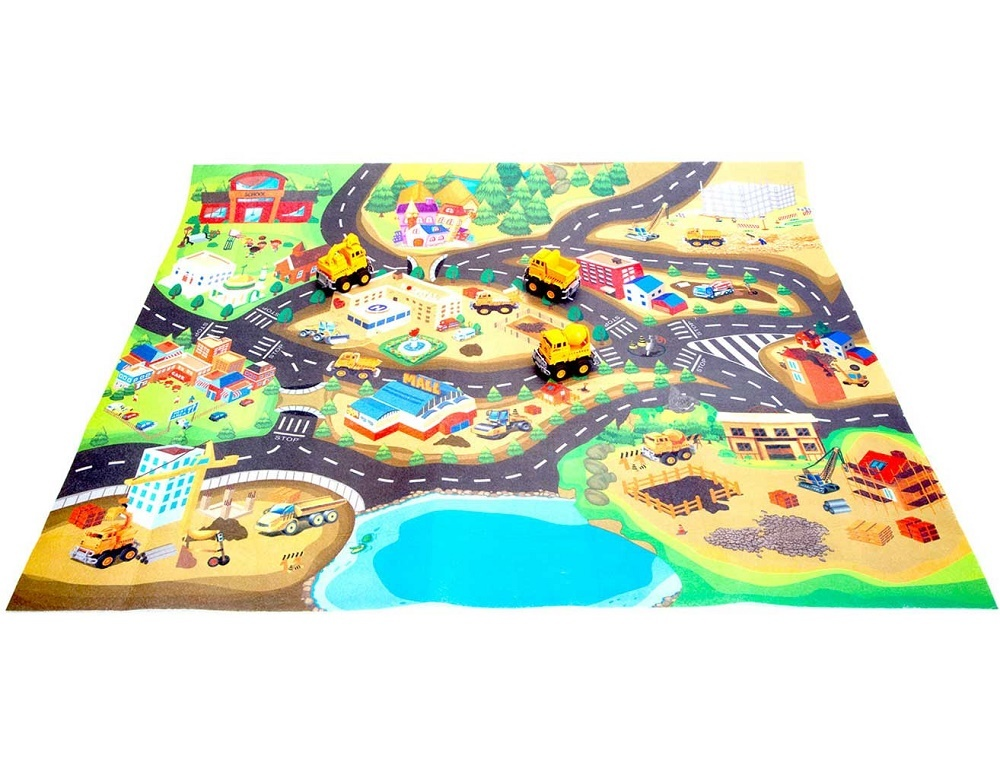 Развивающий коврик для детей «Стройка в городе» Bradex DE 0156