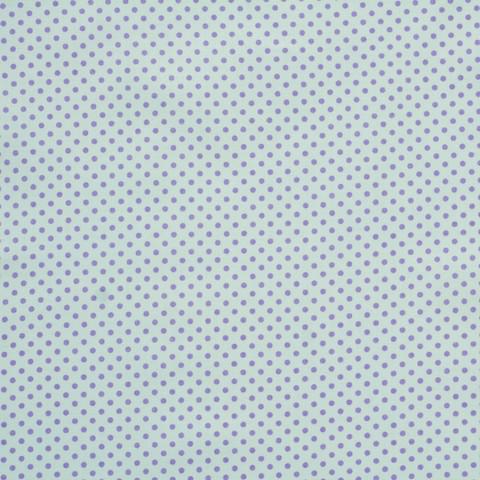 Ткань хлопковая сиреневые горошки на белом