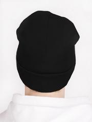 Мужская черная шапка бини