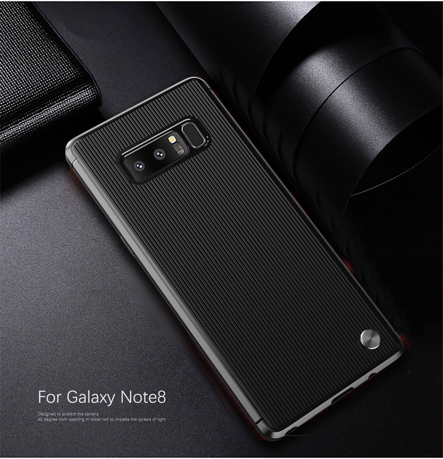 Чехол Samsung Galaxy Note 8  цвет Black (черный), серия Bevel, Caseport