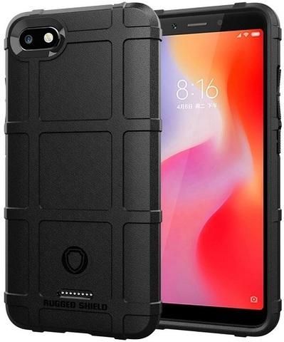 Чехол для Xiaomi Redmi 6A цвет Black (черный), серия Armor от Caseport