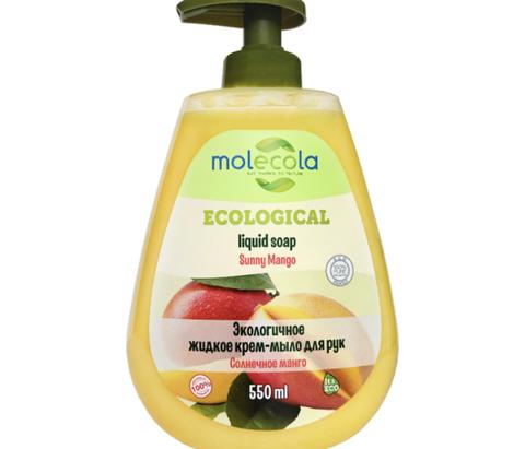 Крем- мыло для рук Солнечное Манго Molecola, экологичное, 500мл