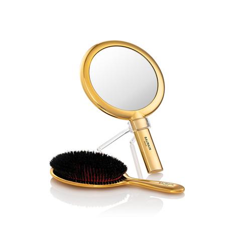 Balmain Hair Золотой набор - Расчёска с зеркалом Лимитированная коллекция