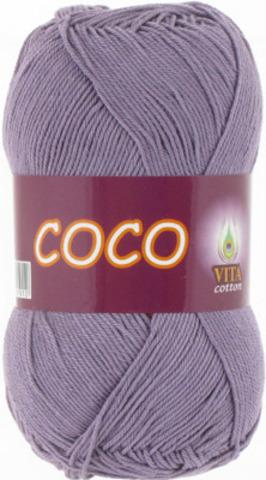 Пряжа Coco Vita cotton 4334 Дымчато-сиреневый, фото