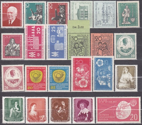 лот марок 1959 года все **MNH