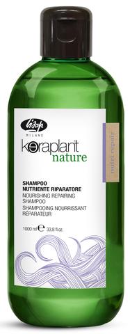 Шампунь для глубокого питания и увлажнения волос - Lisap Keraplant Nature Nourishing Repair Shampoo 1000мл